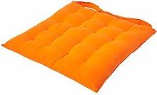 HOMESCAPES - Seat Pad - Orange - 40 x 40 cm -