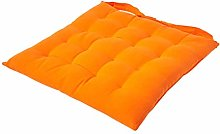 HOMESCAPES - Seat Pad - Orange - 40 x 40 cm -