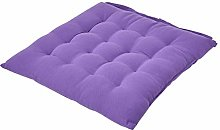 HOMESCAPES - Seat Pad - Purple - 40 x 40 cm -