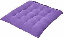 HOMESCAPES - Seat Pad - Purple - 40 x 40 cm -