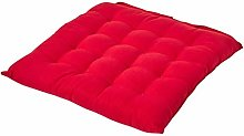 HOMESCAPES - Seat Pad - Red - 40 x 40 cm - Indoor