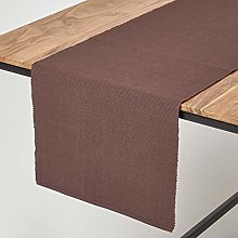 Homescapes - Table Runner - Chocolate Brown - 100%