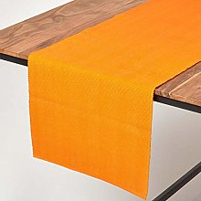 Homescapes - Table Runner - Orange - 100% Ribbed