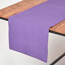 Homescapes - Table Runner - Purple - 100% Ribbed
