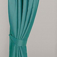 Homescapes Teal Embossed Curtain Tie Back Pair