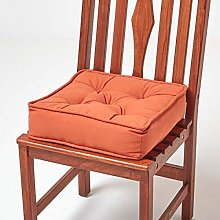 HOMESCAPES Terracotta Dining Chair Booster Cushion