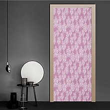Homesonne Door Wallpaper Lace Pattern with Warm