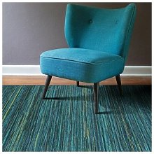 Homespace Direct - Brighton Blue/Yellow 80x150cm Large Rug Carpet Rugs Living Room Bedroom Patio Pile Rug Soft