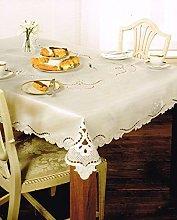 Homespace Direct Cream Table Cloth Rectangular