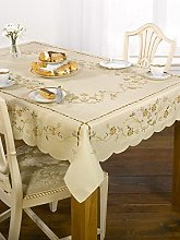 Homespace Direct Embroidered Floral Table Cloth