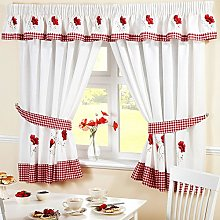 Homespace Direct Poppies Pencil Pleat Kitchen