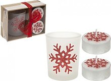 Homestreet Gift set of 2 Glittery Tealights and