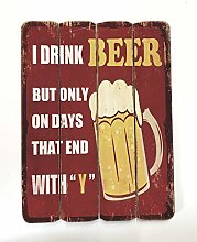 Homestreet Gifts Large Hanging Beer Sign Laminated