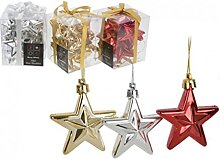 Homestreet Pack Of 10 Star Christmas Hanging