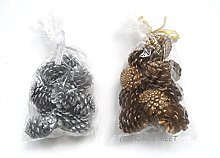 Homestreet Pack Of 12 Christmas Pine Cones For