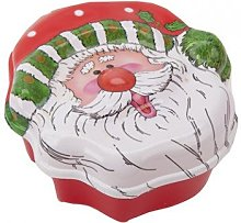 Homestreet Santa Face Dish with lid, Father