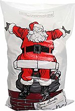 Homestreet Xmas Santa Sack, Red, One Size