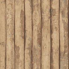 Homestyle Wallpaper Old Wood Brown - Brown