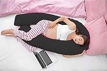 7FT COMFORT U SHAPE PILLOW /& COVER FULL BODY PREGNANCY MATERNITY NURSING SUPPORT