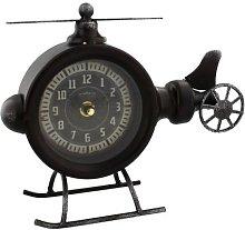 Hometime Clock - Metal Helicopter Mantel Clock -