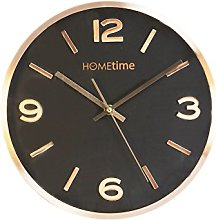 Hometime Copper Black Aluminium Wall Clock
