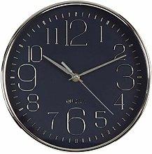 Hometime Deep Case Wall Clock Blue Arabic Dial 25cm