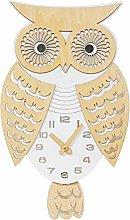HOMETIME Laser Cut Novelty Wooden Owl Wall Clock