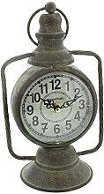Hometime Mantel Clock Vintage Old Lantern Design