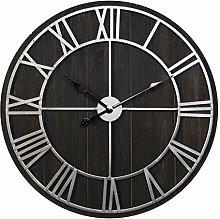 Hometime Metal Dial Wall Clock Roman Numerals 70cm
