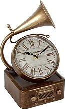 Hometime Metal Mantel Clock - Vintage Style