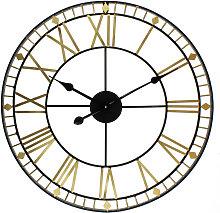 Hometime Metal Wall Clock Cut Out Roman Numerals