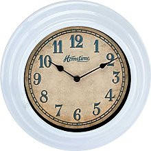 Hometime Plastic Wall Clock with UV Finish Blue 30