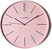 Hometime Round Pink Wall Clock