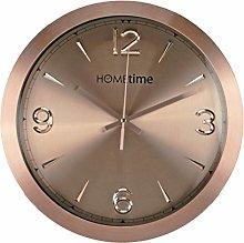 Hometime Shimmer Copper Aluminium Wall Clock