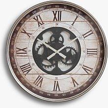 HOMEtime Vintage Metal Roman Numeral Wall Clock,