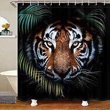 Homewish Tiger Bathroom Decor Shower Curtain,