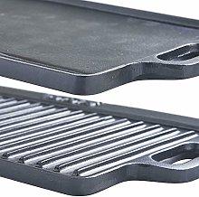HomeZone® 40cm Heavy Duty Medium Cast Iron Double