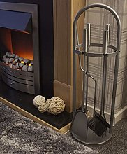 HomeZone 5PC Curved Modern Fireside Tool Set