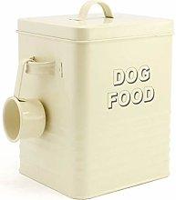 HomeZone® Dog Food Enamel Biscuit Tin with
