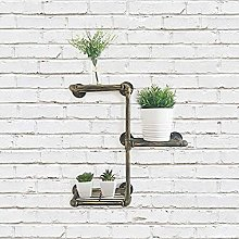 HomeZone Industrial Plumbing Pipe Bathroom Shelf |