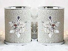 HomeZone Set of 2 Twinkling Snowflake Wax Warmers