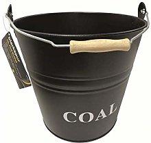HomeZone Vintage Style 12L Black Coal Bucket With
