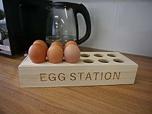 Homezone® Wooden 12 Egg Rack Display Holder