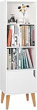 Homfa 4 Cubes Bookshelf Storage Unit Wooden Free