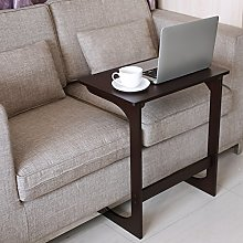 HOMFA Bamboo Snack Table Sofa Couch Coffee End