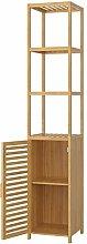 Homfa Bamboo Tall Cupboard Tallboy Bathroom