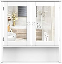Homfa Bathroom Mirror Cabinet Wall Mirrored