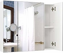 Homfa Bathroom Mirror Cabinet Wall Storage Cabinet