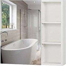 Homfa Bathroom Mirror Cabinet with Storage Shelves