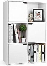 Homfa Bookcase Cube Shelving Unit Wooden Bookshelf